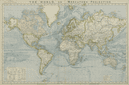 WORLD ON MERCATOR'S PROJECTION. British Empire. Telegraph cables. LETTS 1884 map